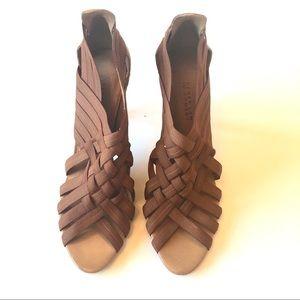 Derek Lam brown strappy open toe sandals